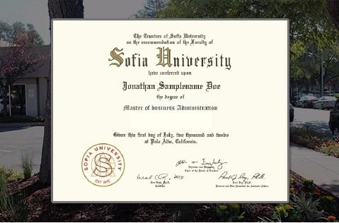 全球通行MBA学位,与在校生学位证书完全相同,美国索菲亚大学官网可查询验真